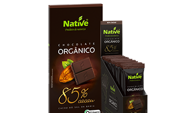 Chocolate Orgânico Native 85% Cacau