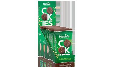 Cookies Orgânicos Native de Quinoa, Aveia, Trigo e Linhaça Sabor Cacau