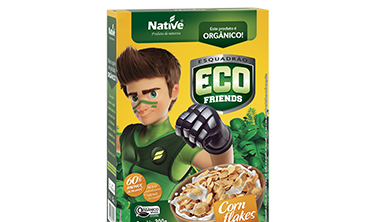 Cereal Orgânico Eco Friends Corn Flakes Native