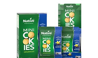 Mini Cookies Orgânico Native Sabor Baunilha