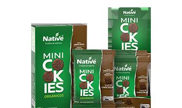 Mini Cookies Orgânico Native Sabor Chocolate