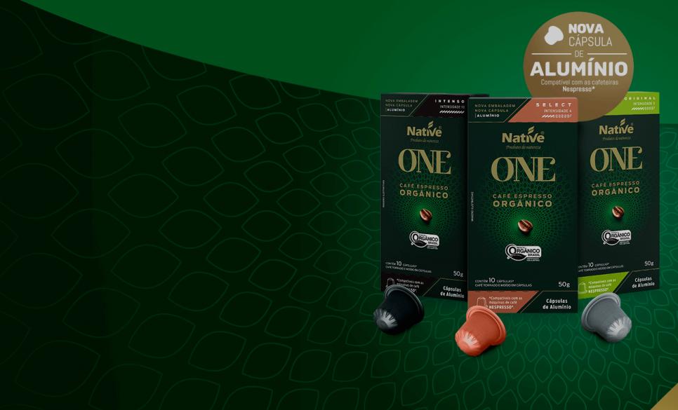 Native renova sua linha de Café Espresso Orgânico em Cápsulas.