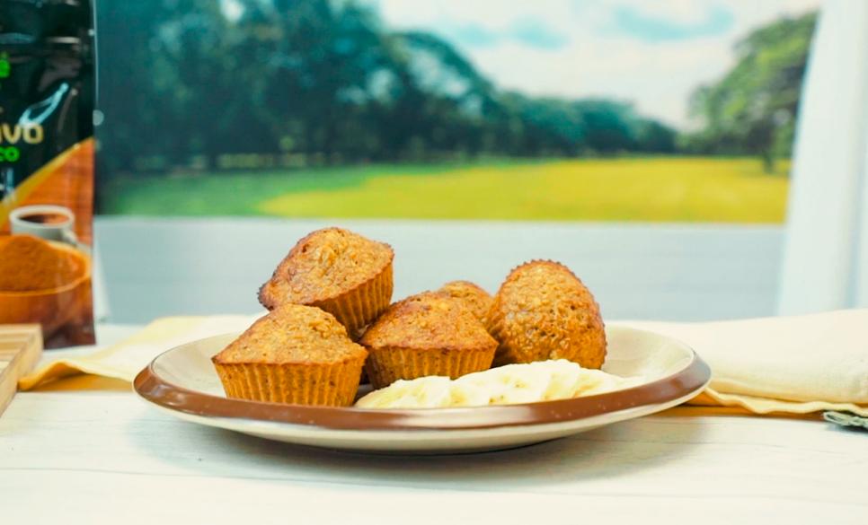 Receita de Muffin de Banana Fit