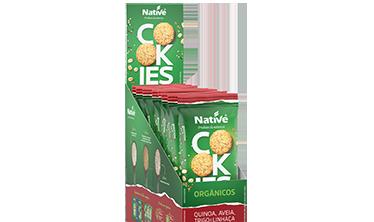 Cookies Orgânicos Native de Quinoa, Aveia, Trigo e Linhaça Sabor Maçã e Canela