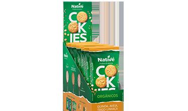Cookies Orgânicos Native de Quinoa, Aveia, Trigo e Linhaça Sabor Mel